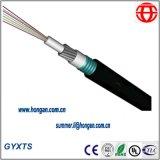 Al aire libre de tubos de acero central Cable de fibra óptica blindada