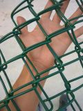 Cerca galvanizada de la conexión de cadena (acoplamiento de alambre del diamante)