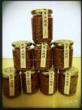 tarros de cristal del coto redondo 350ml para el alimento, salmuera