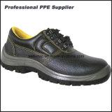 Zapatos de trabajo duro de la inyección de la PU del cuero partido