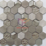 Hexagon-helle Goldfarben-Aluminiummischungs-Kristallmosaik-Fliese (CFM1029)