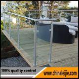 Pasamano de cristal inoxidable del balcón del marco de acero para la caja fuerte