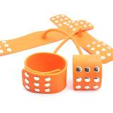 Querform-Silikon-Handschellen für Geschlechts-Sklave Bdsm Geschlechts-Spielwaren für Paare