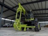 Caña de azúcar de alta velocidad de la rueda/cargador de madera con el compartimiento 0.3cbm