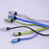 Cable de nylon del USB del Pin de la tela 8 de la venta caliente para el androide