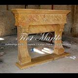 Camino di marmo dorato per la decorazione domestica Mfp-1201