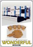 Faltende und stempelschneidene Maschine für Wellpapp