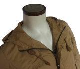 La jupe militaire chaude de l'hiver des hommes profondément Plein-Ferment la fermeture éclair la fourrure de Faux d'Outcoat rayée