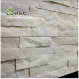 Blanc Quartzite Ledgestone Mur Empilé Pierre Placage Culture Pierre