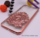 iPhone 6s /6sのための新しい金属彫版3Dローズの携帯電話の箱カバーと