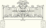 新しく装飾的な庭は金属のゲートを造った