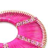 2つのカラーはワイヤー織り方のラインストーンの円形の低下イヤリングを手作りする