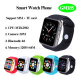 SIM/TFのカードおよびカメラ(GM18S)が付いている熱い販売のBluetooth 4.0のスマートな腕時計の電話