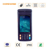 Andorid PDA industrial con el lector de huella digital RFID y el explorador del código de barras