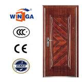 Color de madera de Heatransfer afuera usar la puerta de acero del metal de la seguridad (W-S-134)