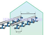 Regadera de atomización cruzada del inyector de la bruma de la planta (HT6342)
