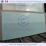 6m m templaron el vidrio helado grabado al agua fuerte ácido para el sitio de ducha