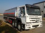 30m3 HOWO 8X4 유조선 연료 탱크 트럭