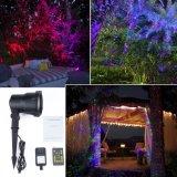 Laser do jardim que move luzes impermeáveis do Firefly do RGB