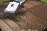Plancher composé en plastique en bois de Decking de fabrication
