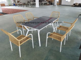 Muebles del acero 7PCS Moder fijados por Table+Chairs