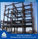 Feixe da grande extensão H e edifício da construção de aço das colunas