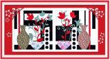 Peinture décorative de rapiéçage de collage de bâti de métier d'oeuvre d'art