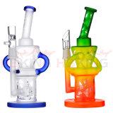 高品質の再資源業者のタバコ煙る配水管のガラス泡Ciliconeの管のHandpipeの甘いパフ