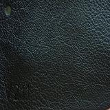 Couro sintético gravado do plutônio Microfiber do PVC para o sofá (HS-QF06)