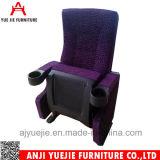간단한 컵 홀더 Yj1803n를 가진 플라스틱에 의하여 접히는 영화관 의자