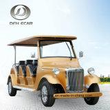 8 Sitzpassagier-Karre Sooter klassische Weinlese-Karren-Goldkarren-elektrisches Fahrzeug