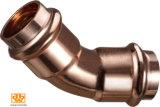 Acoplamento de cobre sem emenda da câmara de ar da água com ponto do batente