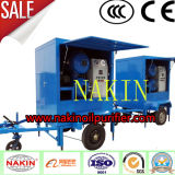 Purificador de petróleo móvel montado do transformador, equipamento do tratamento da limpeza do petróleo do vácuo