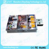 De plastic Aandrijving van de Flits van de Vorm USB van het Boek met Embleem (ZYF1816)