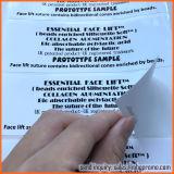 Étiquette de soin de collant de Livre Blanc avec des impressions noires