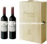Le GV a apuré la boîte en bois à vin de différentes tailles de fournisseur