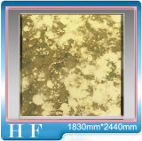 Miroir antique - verre feuilleté d'or - A018