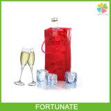 De plastic Zak van het Ijs voor de Zak van pvc van het Handvat van de Levering van de Fabriek van de Wijn
