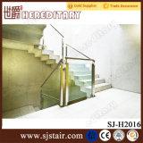 층계에 있는 실내 황금 스테인리스 유리제 난간은 분해한다 (SJ-904)