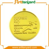 Medaglia placcata del metallo dell'oro con il nastro