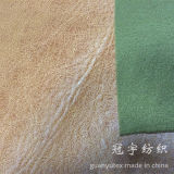 Brnzing Coated Suede Fabric Bonded con Knitted Backing