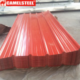 電流を通されるシート材料カラー上塗を施してある波形の屋根ふきシートに屋根を付ける