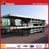 Reboque Semi Flatbed dobro do transporte de recipiente do eixo