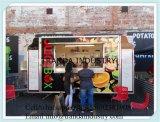 음식 트레일러와 냉각장치 트럭