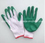 gants fonctionnants de pli enduit de gants de latex de gants du coton 10gauge
