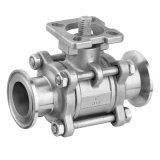 Steel di acciaio inossidabile Clamp Ball Valve con ISO5211