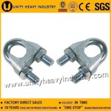 Type galvanisé clip de l'acier DIN 741 de câble métallique