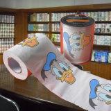 Fournisseur de vente en gros de papier de toilette estampé par cadeau