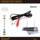 Da bateria estereofónica Multi-Functional de Bluetooth do preço da fábrica de Guangzhou altofalante ativo do trole