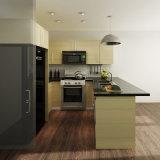 Armadio da cucina di legno modulare della melammina a forma di U americana di progetto piccolo (OP14-M02)